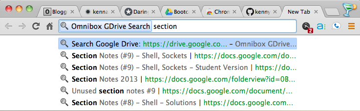 Omnibox GDrive Search